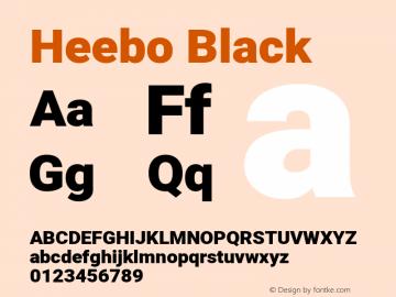 Heebo Black Version 2.002; ttfautohint (v1.5.14-ce02) -l 8 -r 50 -G 200 -x 14 -D hebr -f latn -w G -W -c -X