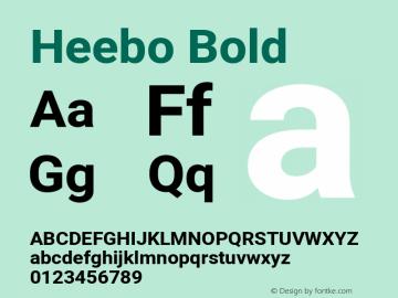 Heebo Bold Version 2.002; ttfautohint (v1.5.14-ce02) -l 8 -r 50 -G 200 -x 14 -D hebr -f latn -w G -W -c -X