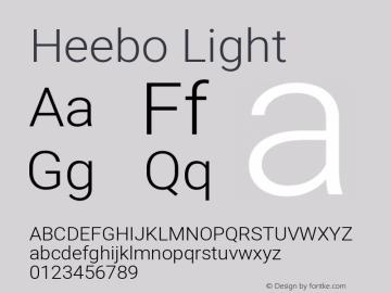 Heebo Light Version 2.002; ttfautohint (v1.5.14-ce02) -l 8 -r 50 -G 200 -x 14 -D hebr -f latn -w G -W -c -X
