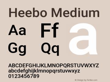 Heebo Medium Version 2.002; ttfautohint (v1.5.14-ce02) -l 8 -r 50 -G 200 -x 14 -D hebr -f latn -w G -W -c -X