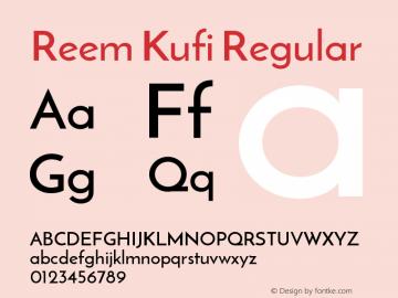Reem Kufi Regular Version 0.004 Font Sample