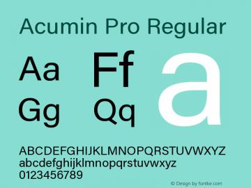 AcuminPro-Regular Version 1.011图片样张