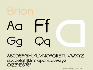 ☞Brion 1.0;com.myfonts.easy.northernblock.brion.regular.wfkit2.version.3mGw图片样张