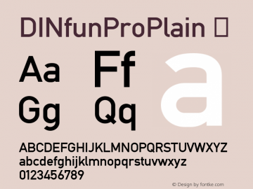 ☞DINfunProPlain Version 1.000;com.myfonts.easy.cheapprofonts.dinfun-pro.pro.wfkit2.version.3CST图片样张