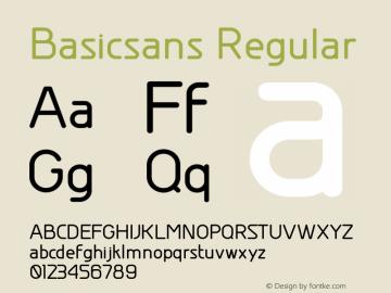 Basicsans Version 1.20 February 20, 2011图片样张