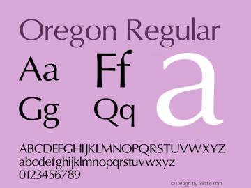 Oregon Version 1.20 February 20, 2011图片样张