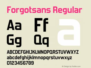 Forgotsans Version 1.20 February 21, 2011图片样张