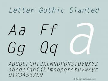 LetterGothic-Slanted 001.000图片样张