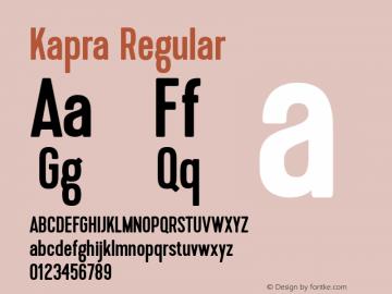 Kapra-Regular 1.000图片样张