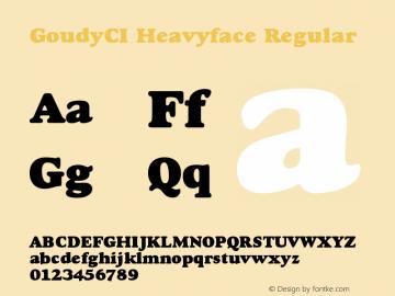 GoudyCI-Heavyface 001.000图片样张