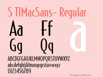 STIMacSans-Regular 001.000图片样张