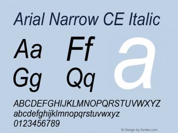 ArialNarrowCE-Italic 001.004图片样张