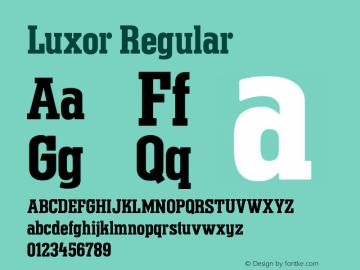 Luxor Regular 001.000图片样张