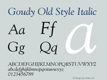 Goudy-Italic 001.001图片样张