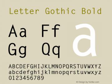 LetterGothic-Bold 001.002图片样张