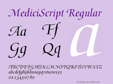 MediciScript 001.000图片样张