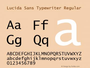 Lucida Sans Typewriter Regular Version 1.69图片样张