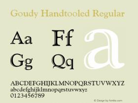 GoudyHandtooledBT-Regular 2.0-1.0图片样张
