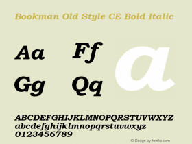 BookmanOldStylCE-BoldItalic 001.003图片样张