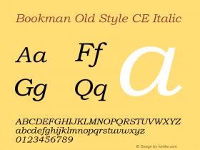 BookmanOldStylCE-Italic 001.003图片样张