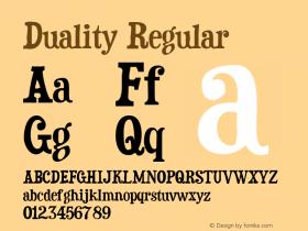 Duality Macromedia Fontographer 4.1.4 13/3/00图片样张