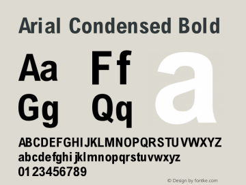Arial Condensed Font,Arial-BldCnd Font,Arial Font,Arial