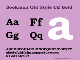 BookmanOldStylCE-Bold 001.003图片样张