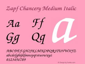 Zapf Chancery Medium Italic 1.1图片样张