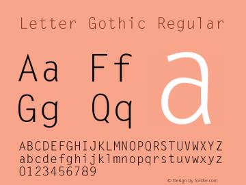 LetterGothic 001.000图片样张