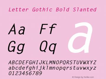 LetterGothic-BoldSlanted 001.001图片样张