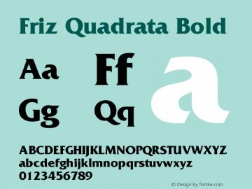 FrizQuadrata-Bold 001.003图片样张