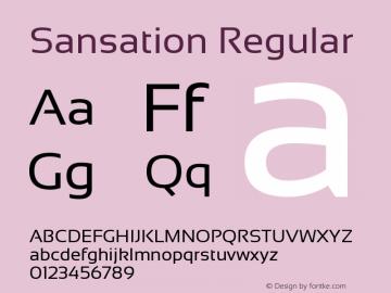 Sansation Regular Version 1.31 Font Sample
