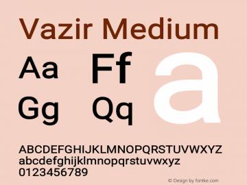 Vazir Medium Version 11.0.1图片样张