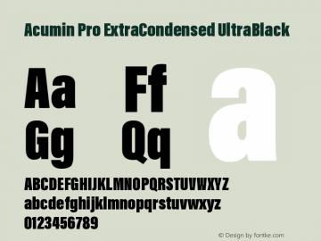 AcuminProExtraCond-UltraBlack Version 1.011图片样张