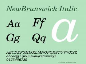 NewBrunswick Italic 001.003图片样张