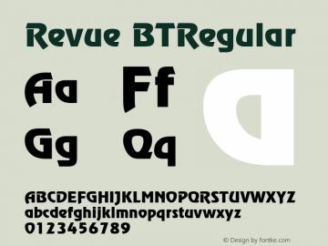 Revue BTRegular Macromedia Fontographer 4.1.5 26/11/01图片样张