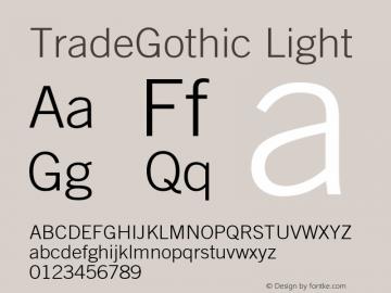 Trade Gothic Light Version 002.000图片样张