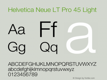 HelveticaNeueLTPro-Lt Version 1.300;PS 001.003;hotconv 1.0.38图片样张