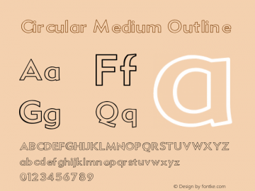 Circular Font,Circular Medium Outline Font,Circular-Medium Outline