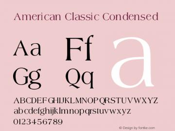 American Classic Condensed V1.00图片样张