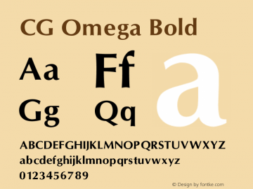 CG Omega Bold V1.00图片样张