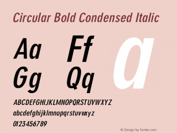Circular Bold Condensed Italic V1.00图片样张