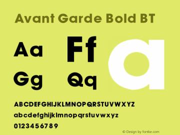 AvantGarde Bold BT V1.00图片样张