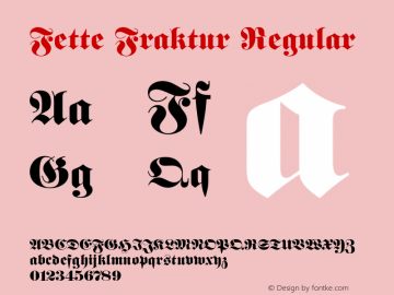 Fette Fraktur Regular 001.003 Font Sample