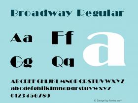 Broadway Regular V1.00图片样张