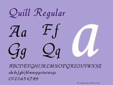 Quill Regular V1.00图片样张