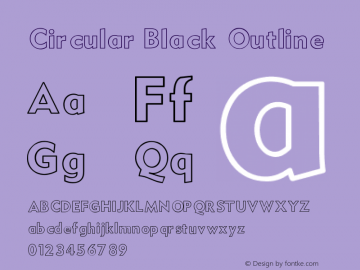Circular Black Outline V1.00图片样张