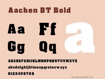 Aachen BT Bold V1.00图片样张