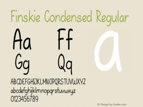 Finskie-CondensedRegular Version 1.000图片样张