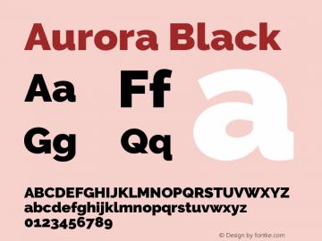 Aurora Black Version 3.00 February 26, 2017图片样张